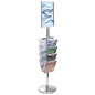 17 X 11 Stanchion Sign with Literature Rack, Portrait