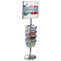Sign Stand with Literature Organizer for Malls