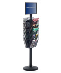 "17"" x 11"" Sign Post with 10 Mesh Literature Pockets, Double Sided"