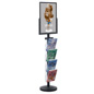 18 x 24 Sign Post with 4 Clear Literature Pockets, Top Insert