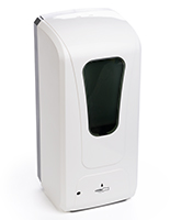 Touch free hand sanitizer dispenser with 11.26 inch height