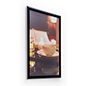 Wall mounting 20 x 30 black all-weather poster frame