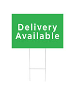 Delivery available yard sign