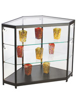 "LED Glass Counter Corner, 46.75"" Overall Width"