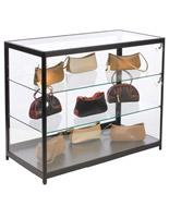 "Aluminum Display Case Counter, 48"" Overall Width"