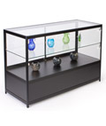 "Lighted Glass Display Counter, 38"" Overall Height"