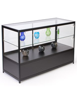"""Lighted Glass Display Counter, 60"""" Overall Width"""