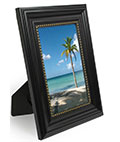 Black Picture Frames with Gold Studded Profile