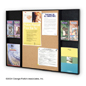 informational board holds multiple stacks of flyers