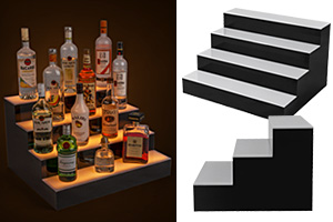 LED Illuminated Bottle Shelves