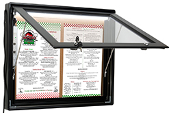 Illuminated Outdoor Menu Displays
