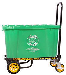 Industrial carts support up to 350 lbs. of trade show equipment