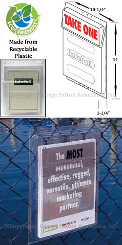 Brochure Box Outdoor Leaflet Display Keeps Pamphlets Dry