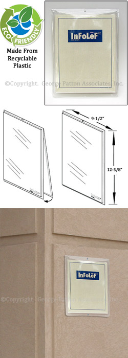 Outdoor Wall Sign Holder Protects 8 1 2 X 11 Signage From Moisture