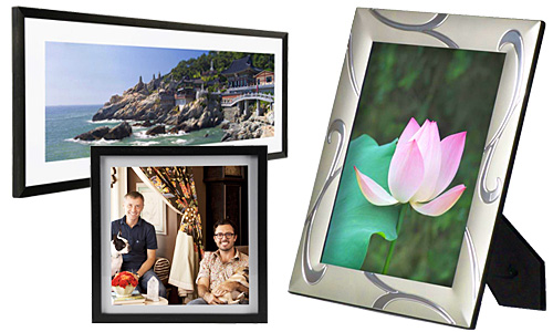 Wall and tabletop picture frames