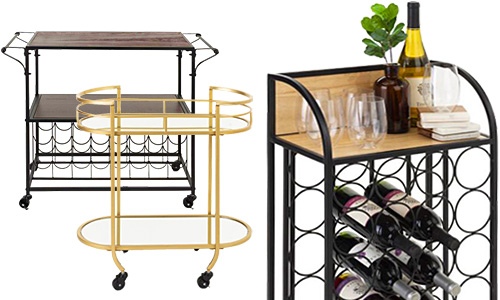 Rolling carts for bar service