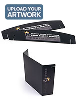 Slotted foam sign headers allow you to display company logos