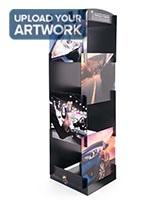 78 inches x 22 inches Flat pack cube display signage features interlocking custom printed panels