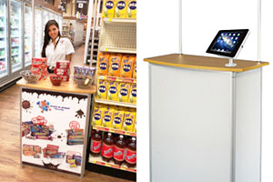 iPad podium stands for presentations and events