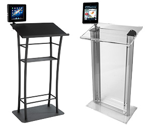 Podiums with iPad Holders
