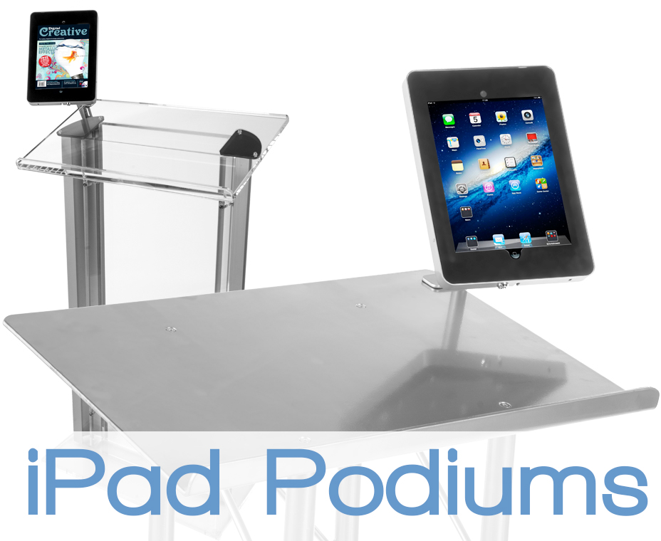 podiums with ipad mounts