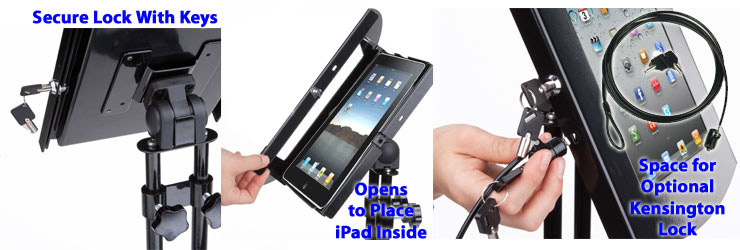 Ipad kiosk floor stand with rotating bracket please note the only card reader that will work with this unit is the square card reader but it will not be compatible with the ipad air or ipad air 2 reheart Gallery