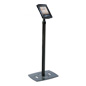 Black Height Adjustable Tablet Giving Kiosk