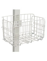 White folding wire basket ships pre-assembled