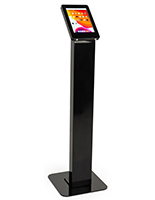 55 inch tall locking floor stand iPad kiosk with glossy finish