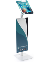 "iPad Pro Kiosk With 30"" Banner and Steel Base"