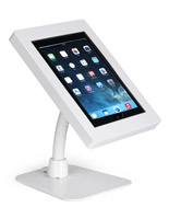 White ABS flex arm iPad tablet holder