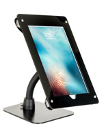 Black acrylic gooseneck tablet mount holder for iPad