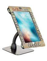 Black acrylic flex arm tablet mount custom holder for 12.9 iPad