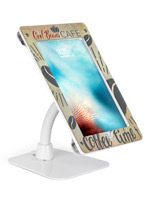 White UV printed custom secure flexible iPad 12.9 stand