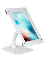 White acrylic flexible tablet mount holder for ipad
