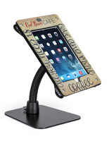 Black UV printed flex arm tablet mount custom holder for iPad