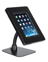 Black steel iPad anti-theft tablet stand holder