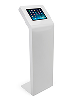 "White iPad floor stand kiosk for iPad Pro 12.9"" and Surface Pro 3 or 4"