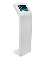 "White floor stand for tablet 9.7"" iPad and Galaxy Tab devices"