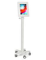 Tablet mount medical rolling cart with cable management
