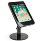 Countertop locking iPad Pro tablet stand with hidden home button