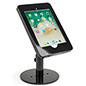 Countertop iPad Pro tablet stand with exposed home button