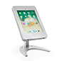 Countertop iPad Pro tablet holder stand with locking enclosure