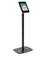 iPad Pro freestanding floor kiosk in black