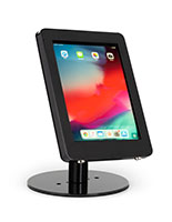 Black iPad POS enclosure with dual locking anti-theft system