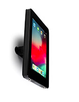 Black conference room iPad mount with modern sleek design
