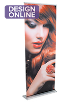 "Advertising 33"" Retractable Vinyl Banner Stand"