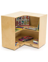 Wooden Childrens Corner Storage Case