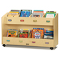 Childrens Book Storage Cart with Locking Casters
