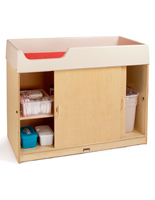 Birch Wood Changing Table with Extra Deep Rails